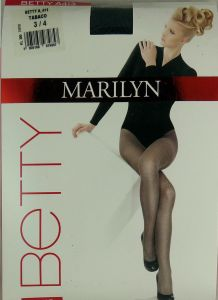 Marilyn Betty A413 R3/4 rajstopy kwiaty tabaco